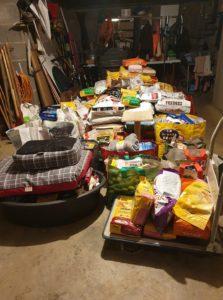 produits récupérés pendant la collecte